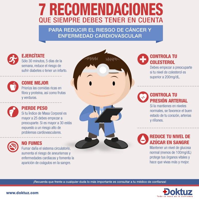 7 recomendaciones para reducir el riesgo de c ncer y de for Recomendaciones ergonomicas para trabajo en oficina