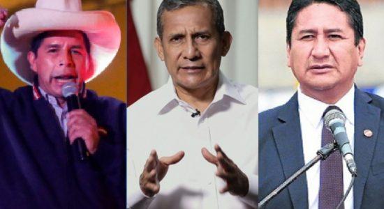 Castillo, Humala y Cerrón